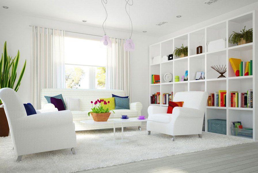 Modern Interieur Wit : Modern white interior wit pops of color casas salas