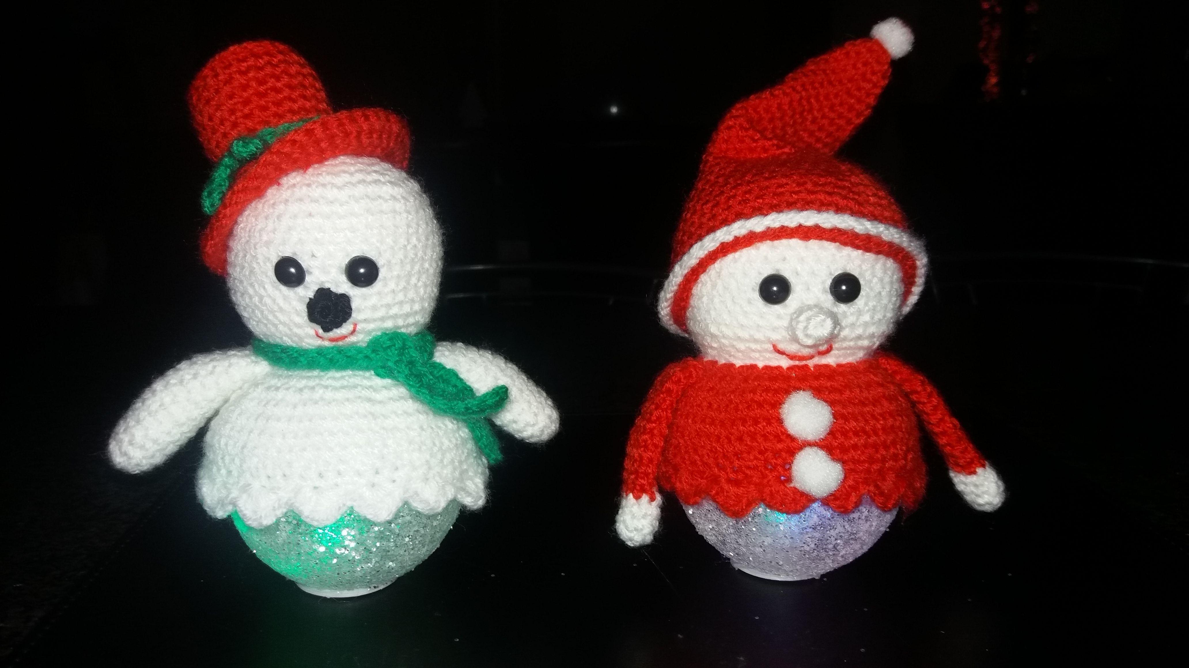Kerst Figuurtjes Op Een Lichtbol Annie Haken Pinterest