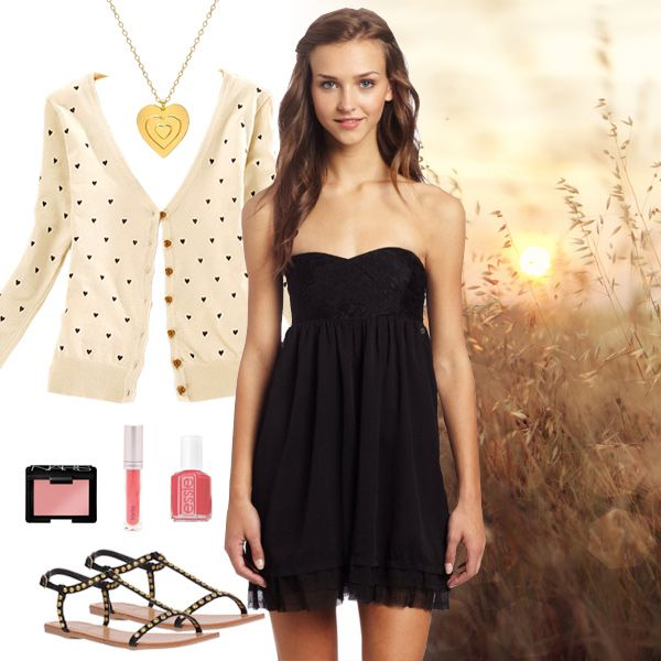 Little Black Cocktail Dress for Teens