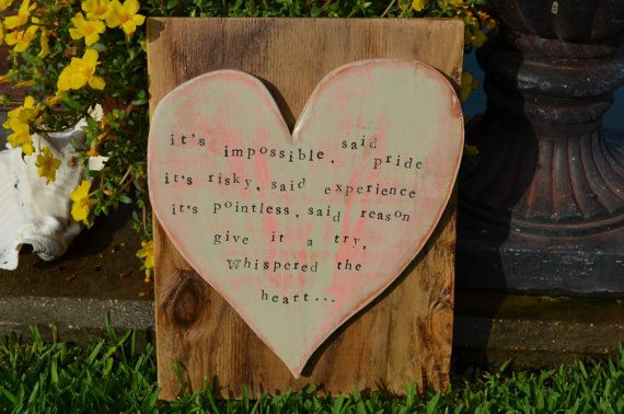 It's Impossible... Recycled Wood Sign Bond Love Shabby by BondLove