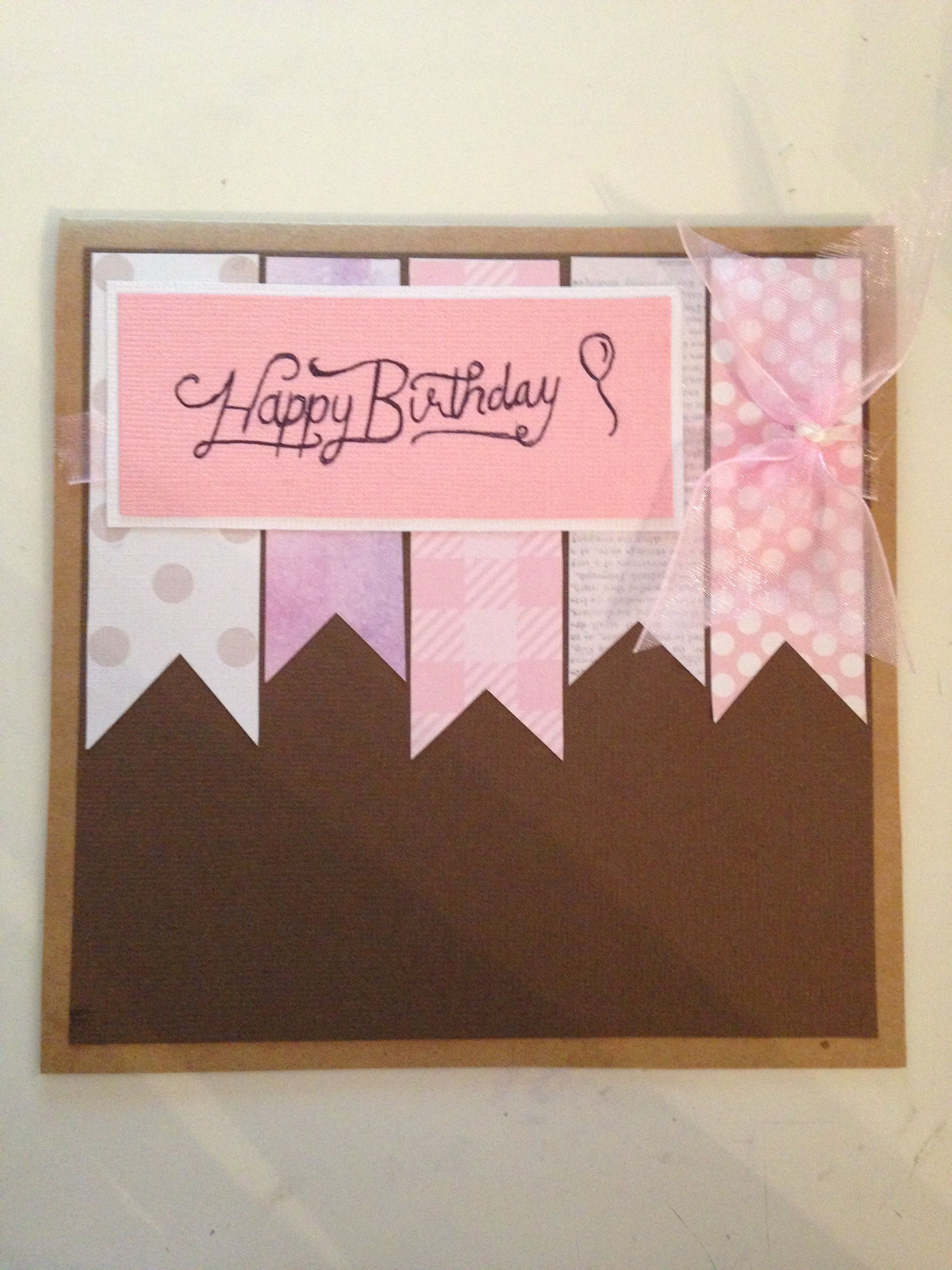 This Is The Cute In Pink Birthday Card I Made For My Aunts