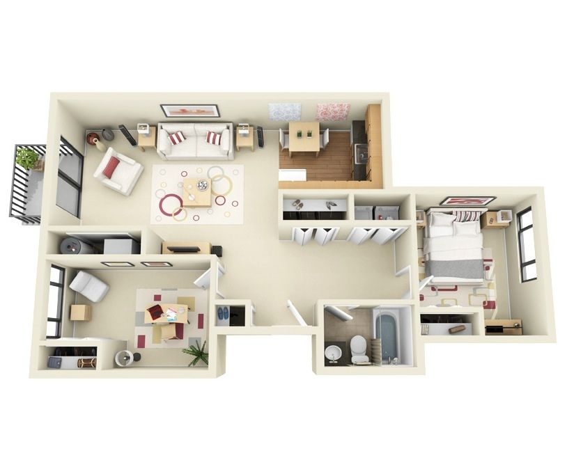 Free 3d Floor Plan Free Lay Out Design For Your House Or Apartment Get Inspiration From These Free O Floor Plan Design 3d Home Design Bedroom Floor Plans