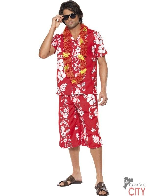 Hawaiian Hunk Costume | SM-33070 | £29.98 | Fancy Dress Costumes ...