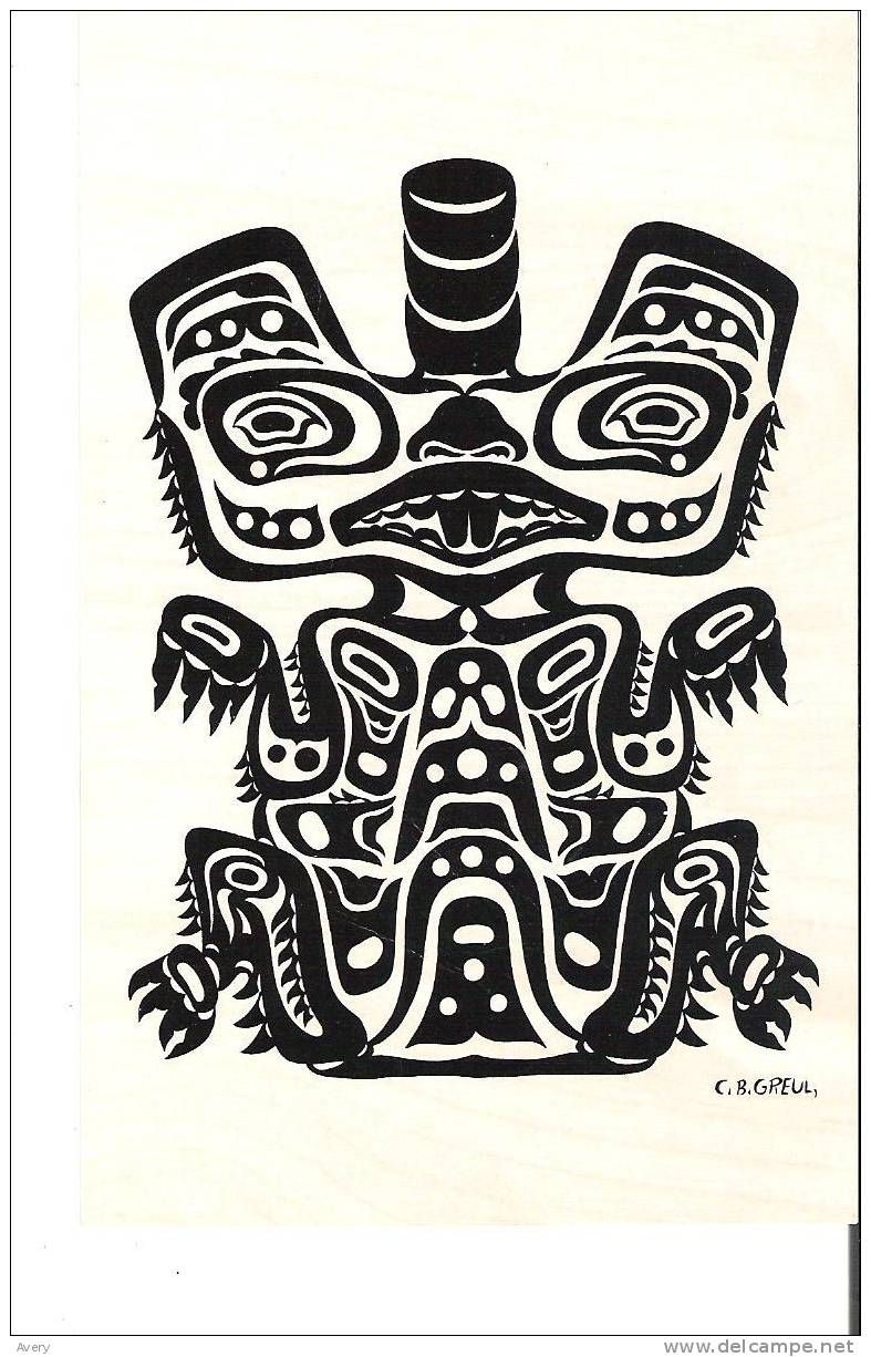 Pacific northwest coast indian motif the beaver queen charlotte pacific northwest coast indian motif the beaver queen charlotte island some glue on back biocorpaavc Image collections