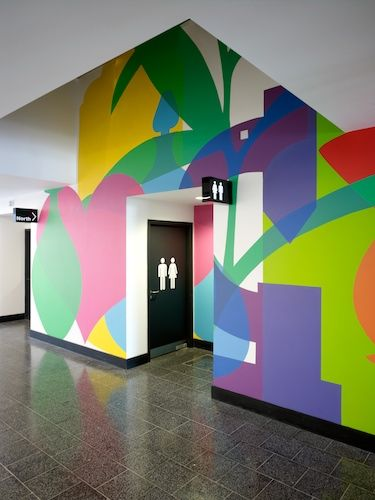 Kentish town health center wall graphics http www for Environmental graphics wall mural