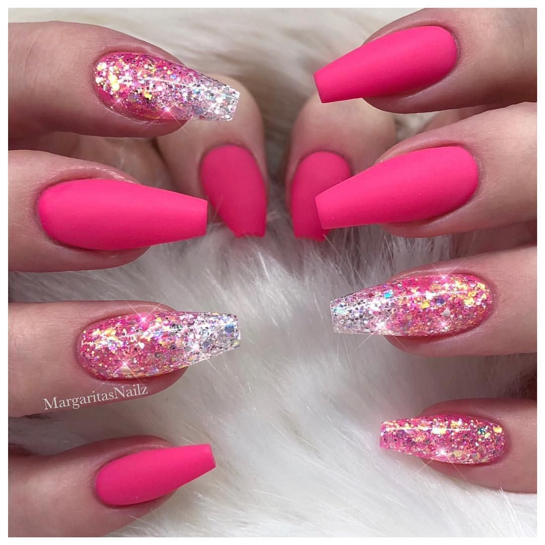Pretty in pink nails #acrylicnaildesigns | Girly Stuff ...