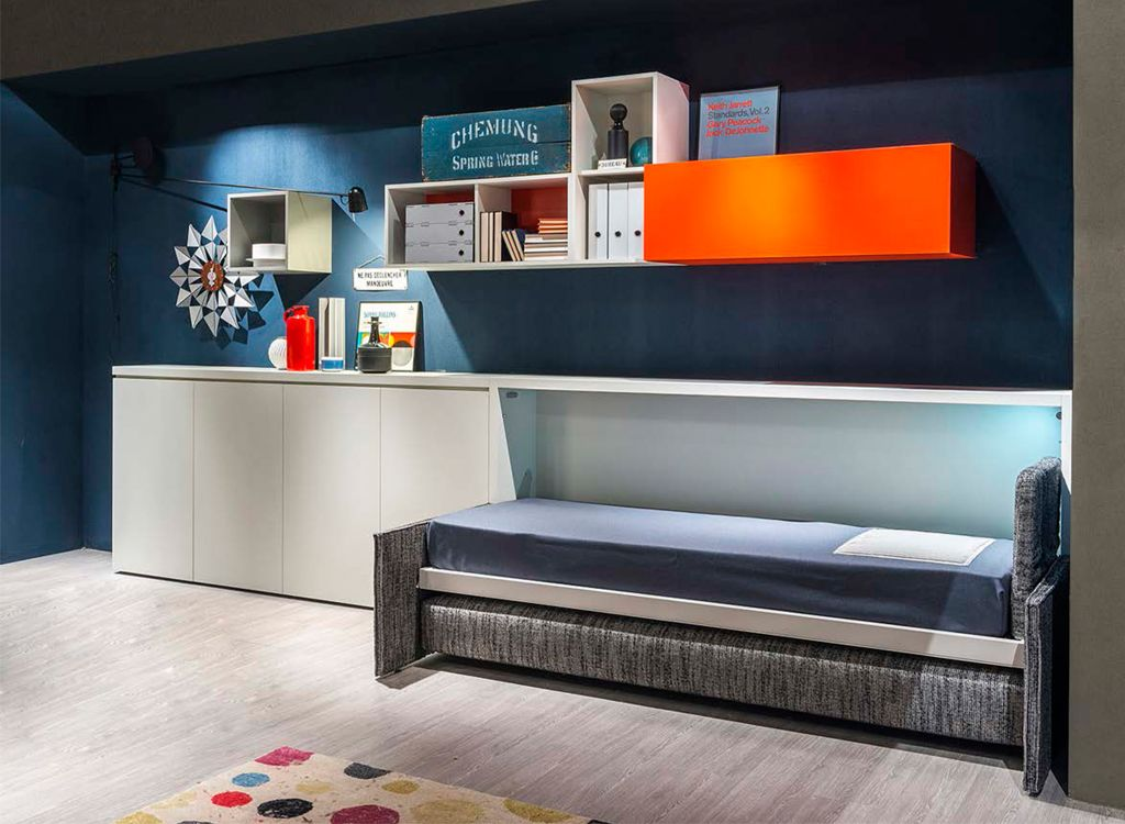 Space Saving Twin Bed the kali sofa is a horizontally opening, twin space saving wall