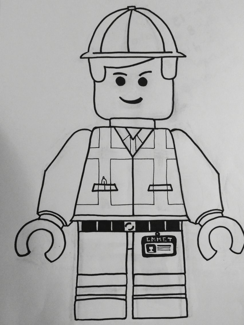 colouring page: Emmet, The Lego Movie | Lego movie ...