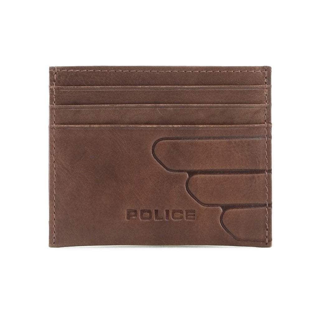 ce7a4b51 Police Leather Credit Card Wallet - Brown | Products | Brown wallet ...