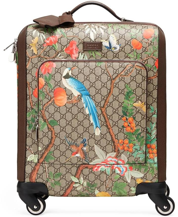 ef855deaa4 This would be easy to find on the luggage carousel. Gucci Tian GG Supreme  carry-on.  affiliate
