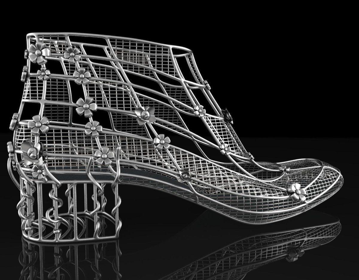 383504dbeeee Diseño de un zapato de mujer realizado con el software Rhinoceros 3D.  Aprende a realizar