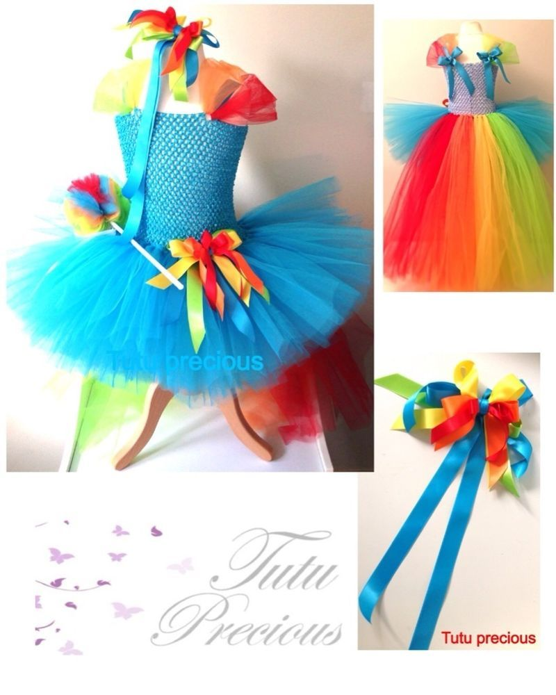 Rainbow Dash My Little Pony Inspired Tutu Dress Dressing Up Costume Rainbow Dash Tutu