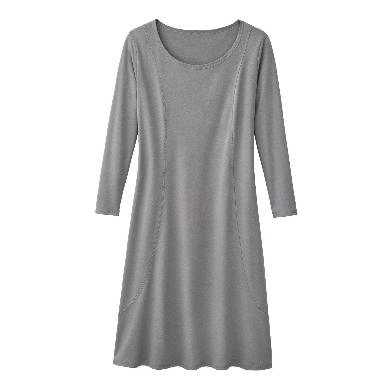 Jersey-Kleid, silbergrau  Bio kleidung, Kleidung, Kleider
