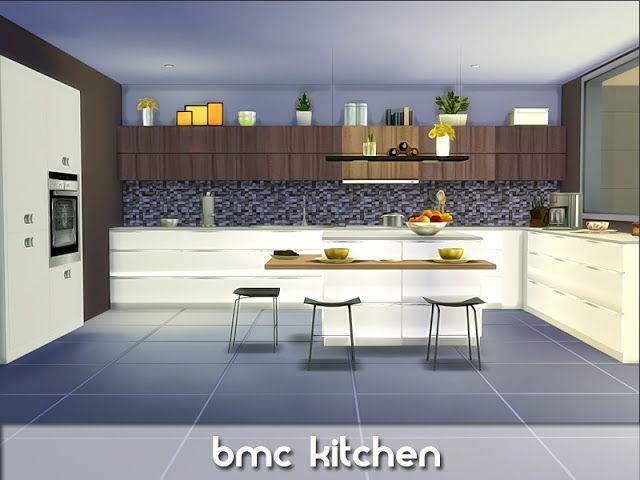 Sims 4 CC\'s - The Best: bmc Kitchen by Nikadema | Moderne ...