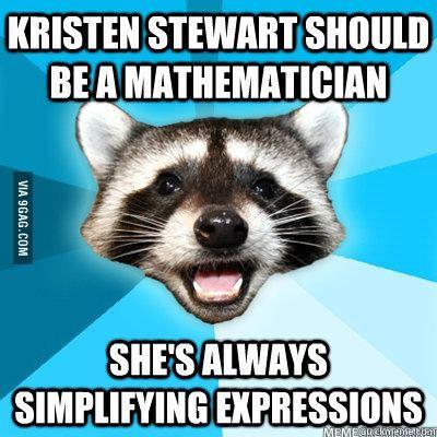 Kristen Stewart should be a mathematician