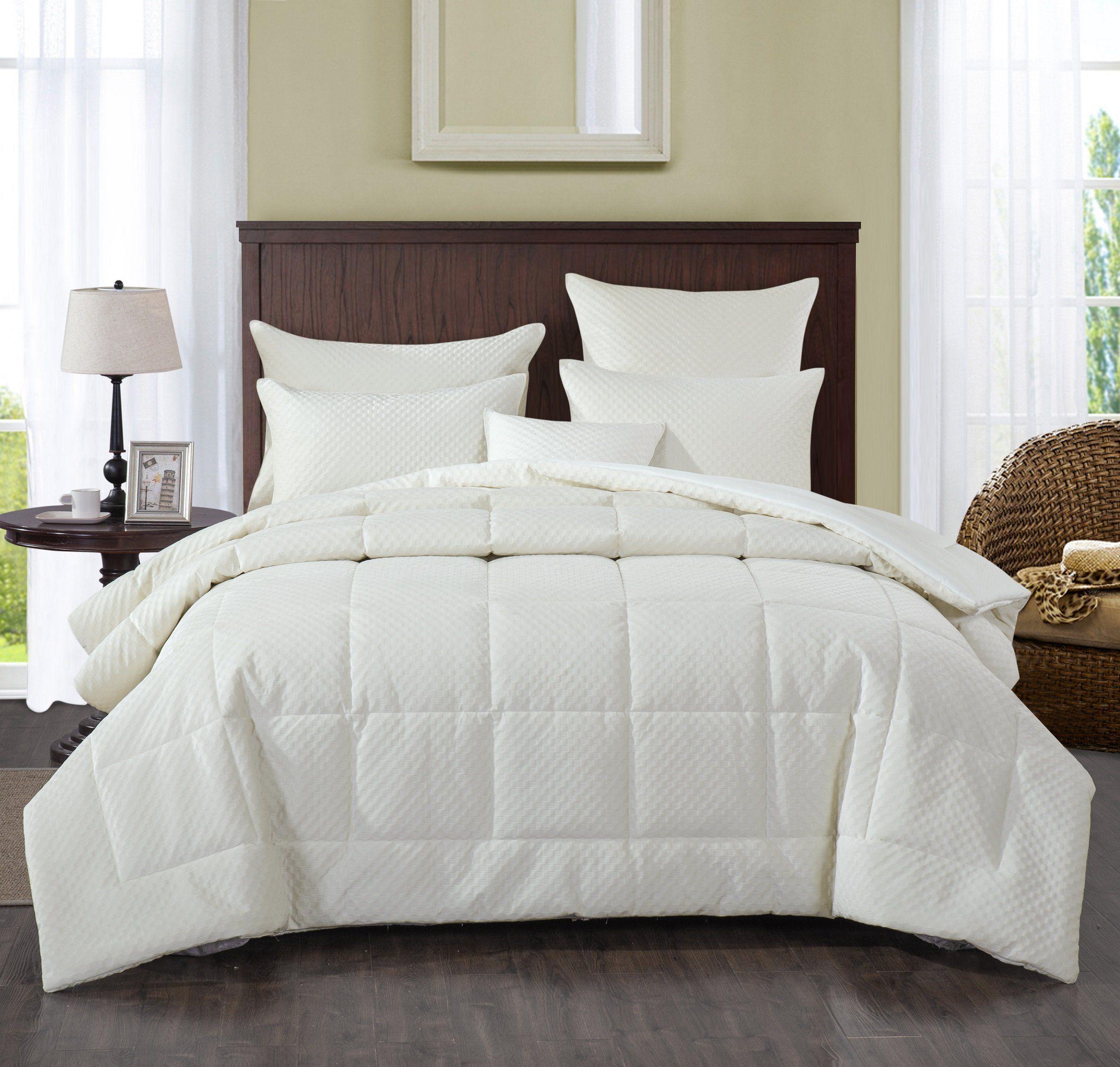 Velvet Eggshell White Plush Comforter Set Comforter sets