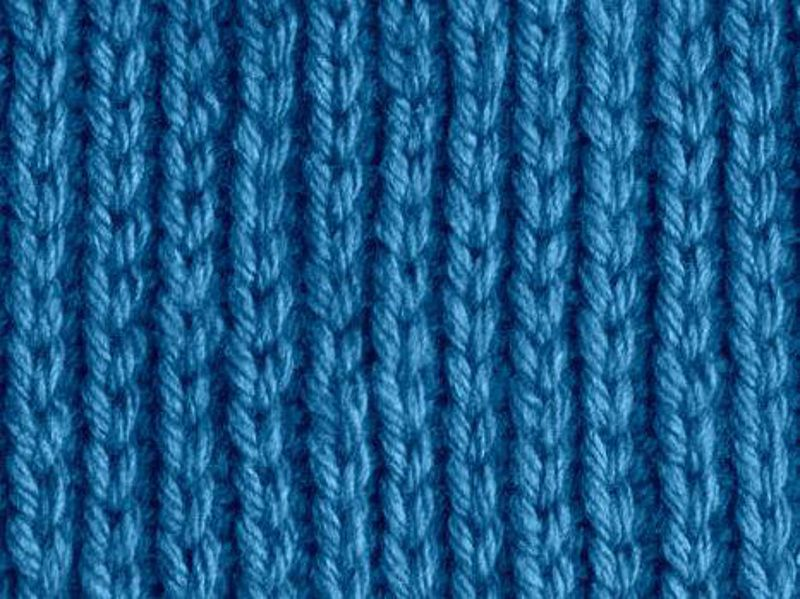Knitting Rib Stitches : Single rib knitting pattern stitch basic
