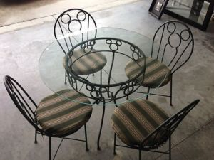 Disney Mickey Mouse Wrought Iron Patio Tables And Chairs