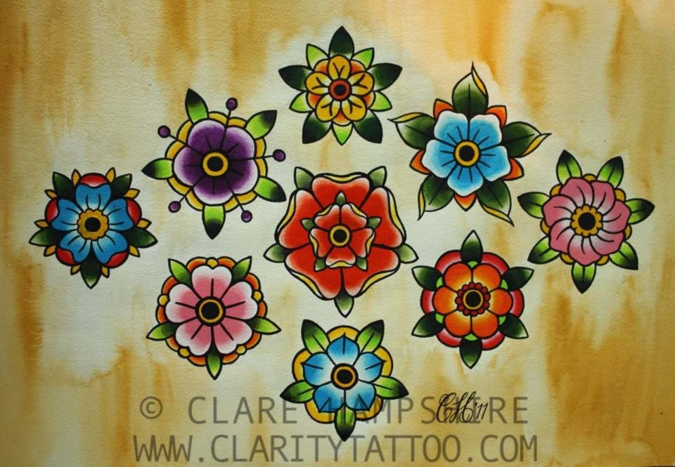 Fiori Old School.Flor Old School Pesquisa Google Traditional Tattoo Flowers