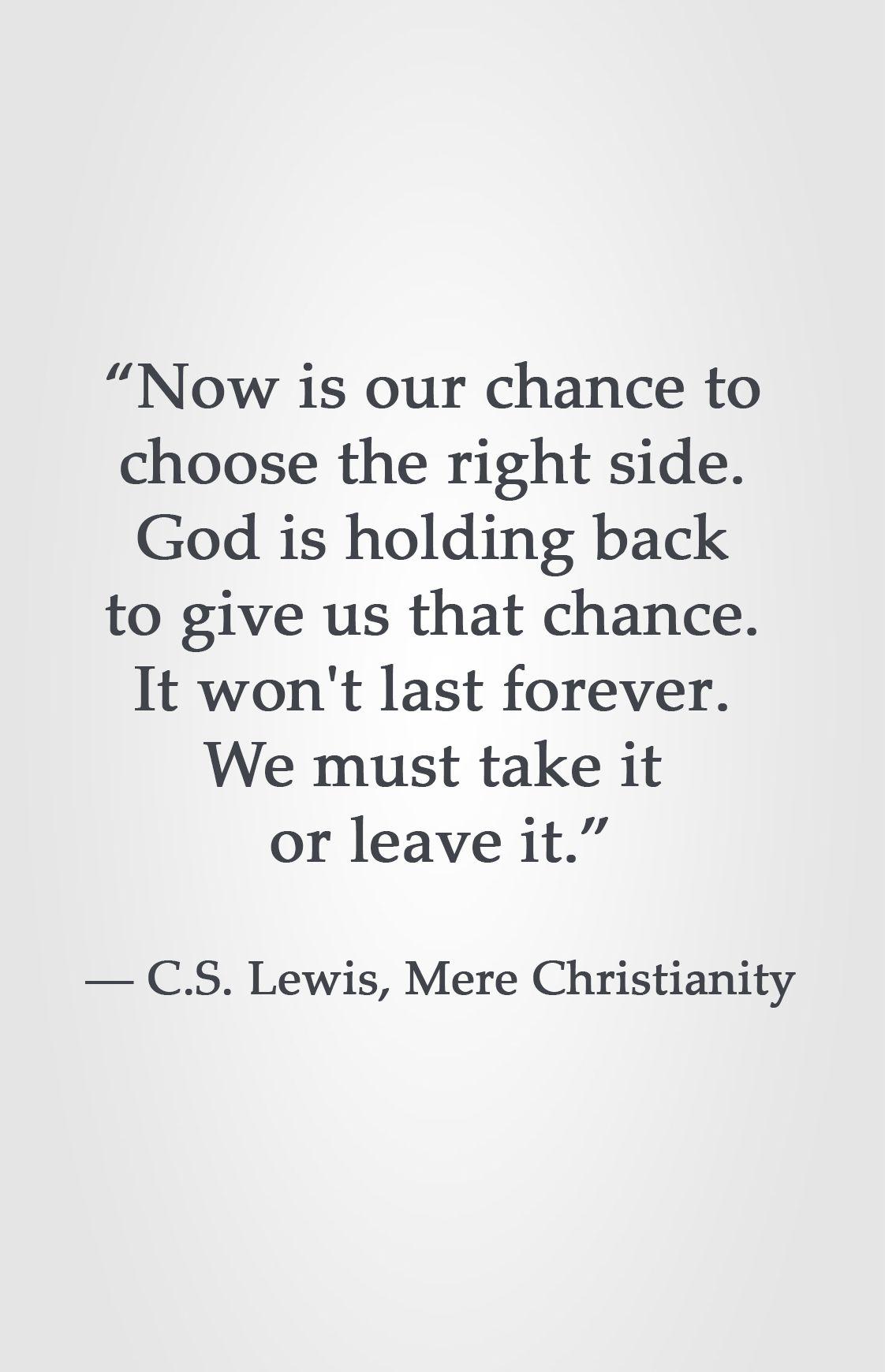 Cs lewis mere christianity quotes