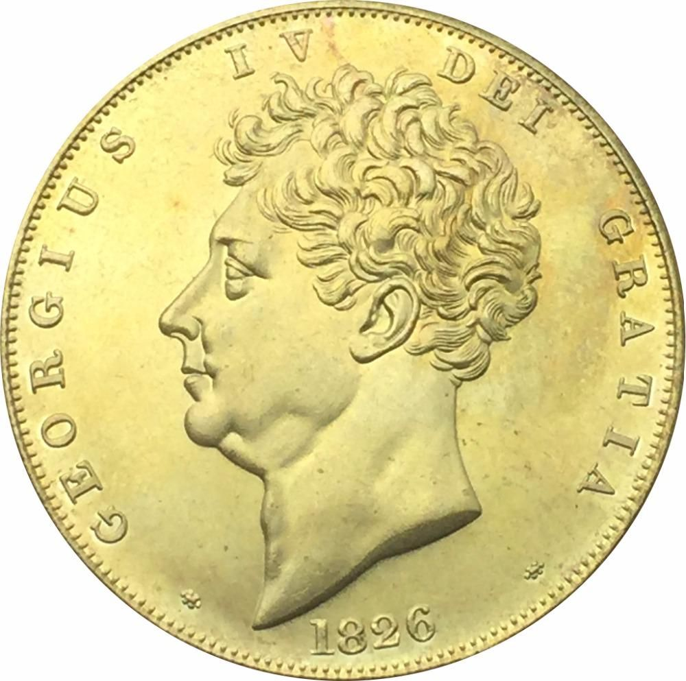 United Kingdom 1826 Georgius Iv Dei Gratia 5 Pounds Gold Coin Br Metal Copy Yesterday S Price Us 3 80 32 Eur Today 2 74 38