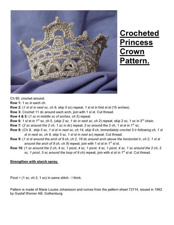 Tutorial on how to make a crown. Every girl should have one ...