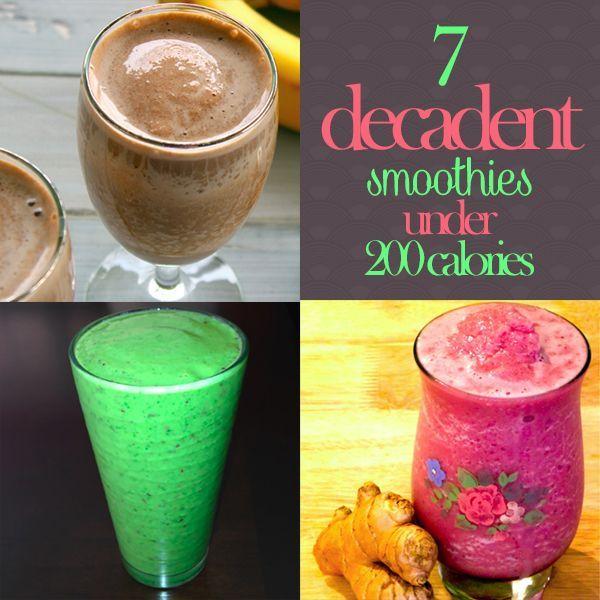 7 Decadent Smoothies Under 200 Calories!