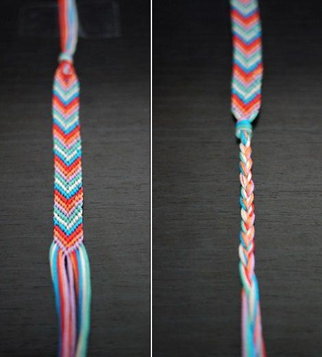 como hacer pulseras hilo colores pulsera pulsera pinterest