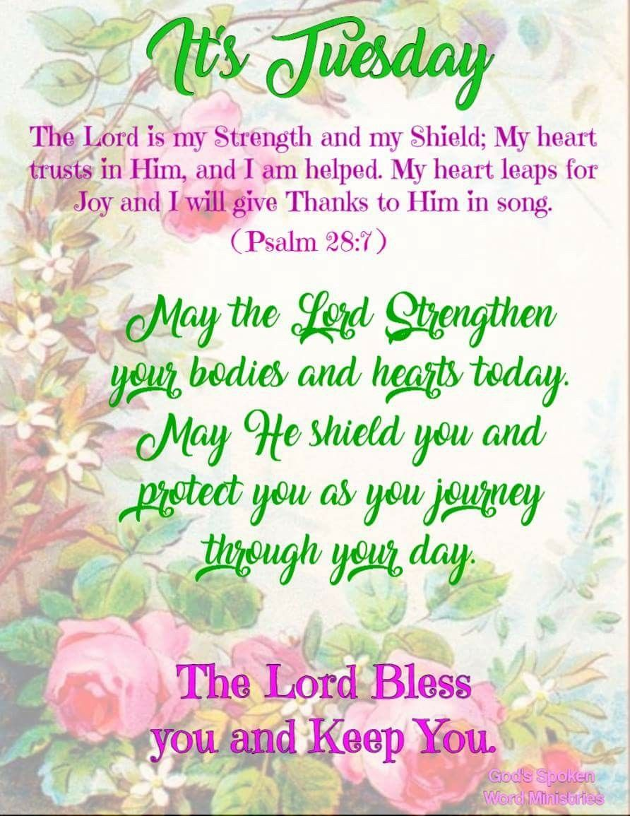 Tuesday Blessings Thought Of The Day Pinterest Blessings