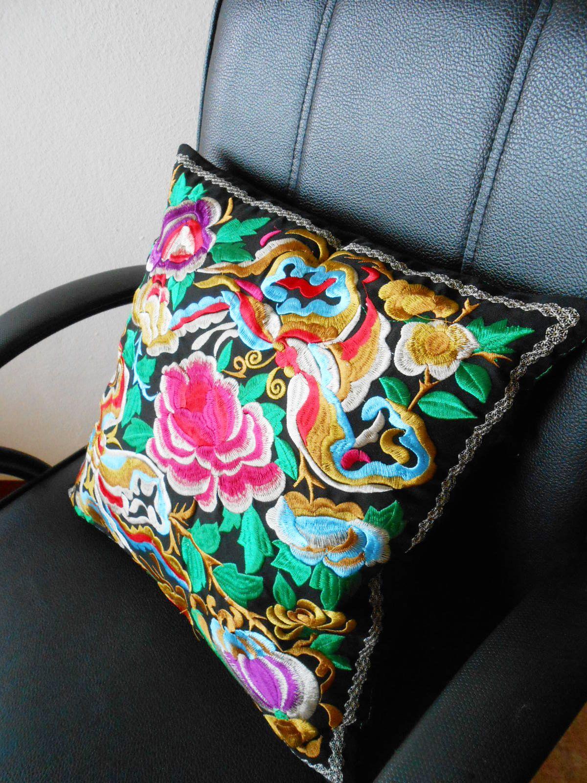 pillow cushion uflower garden u queen beeu handmade exquisite