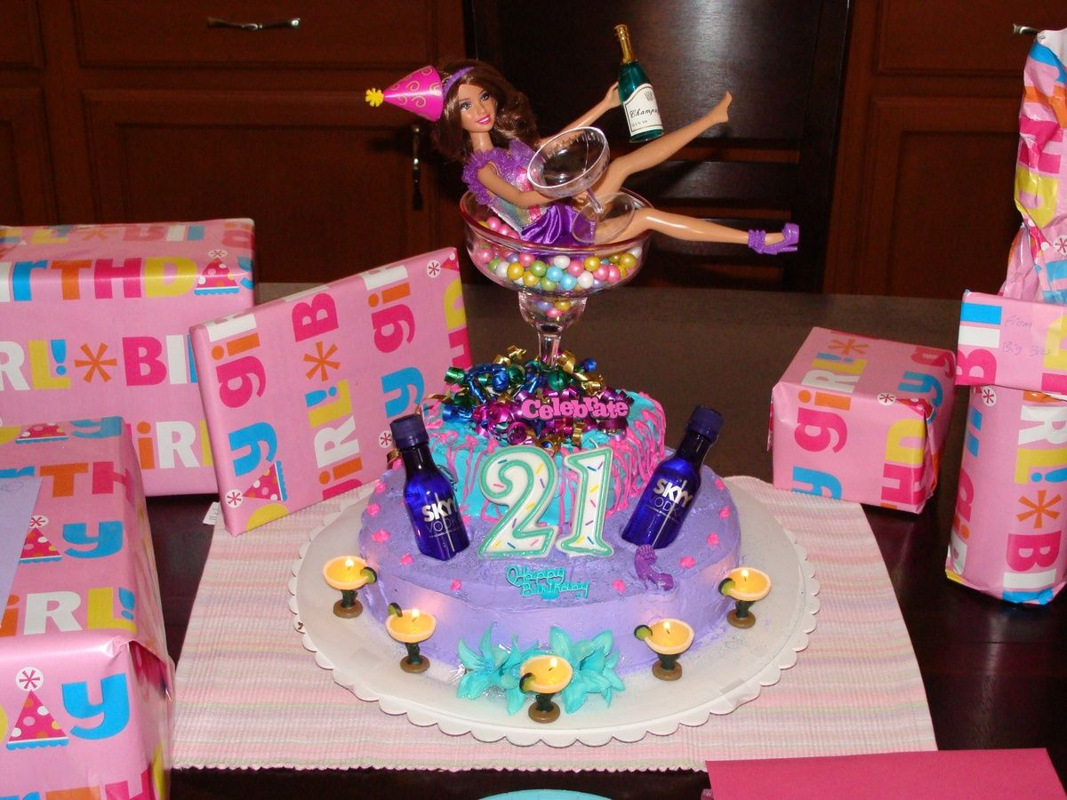 I always see the Barbie all drunk over the cake. I think ...