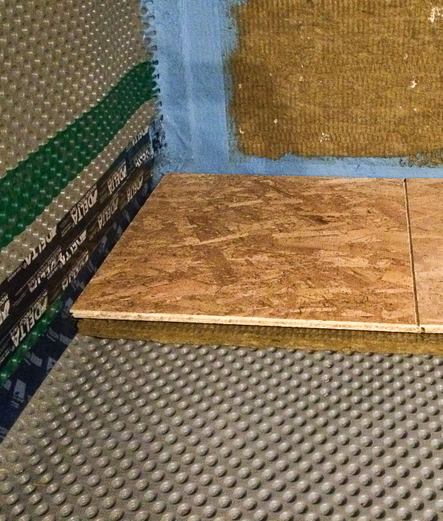 to seal the basement slab start with a layer of dimpled delta rh pinterest com