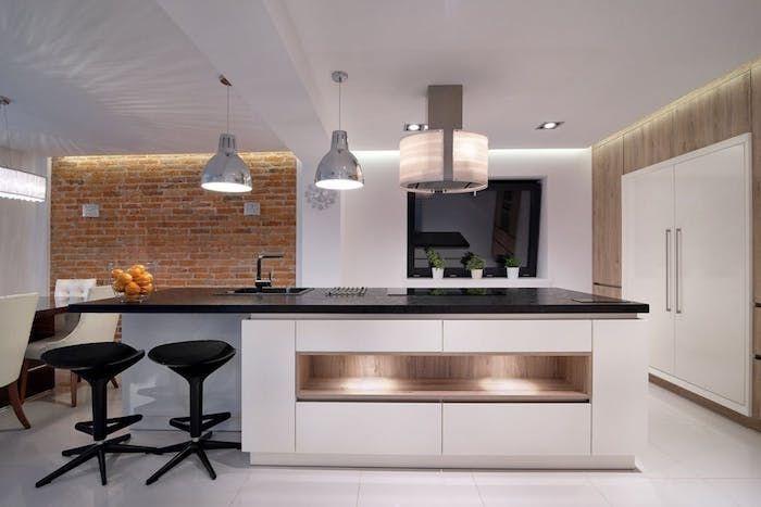 1001 conseils et id es pour am nager une cuisine moderne - Cuisine design noir et blanche ...