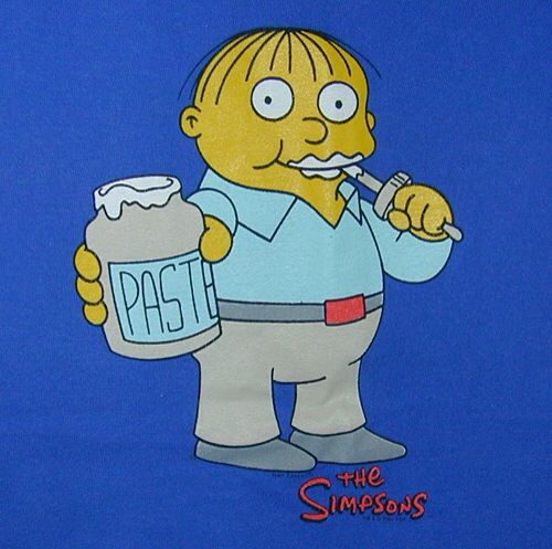 Ralph wiggum eating paste simpsons pinterest ralph - Simpson ralph ...
