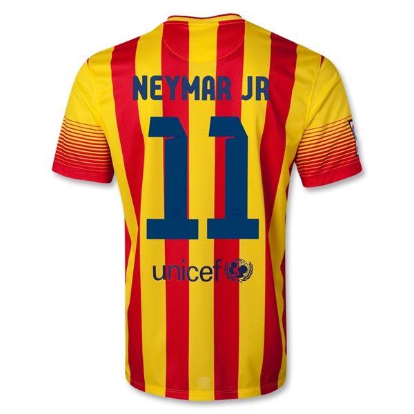 low priced 7186f 9e7a8 13-14 Barcelona #11 NEYMAR JR Away Soccer Jersey Shirt ...