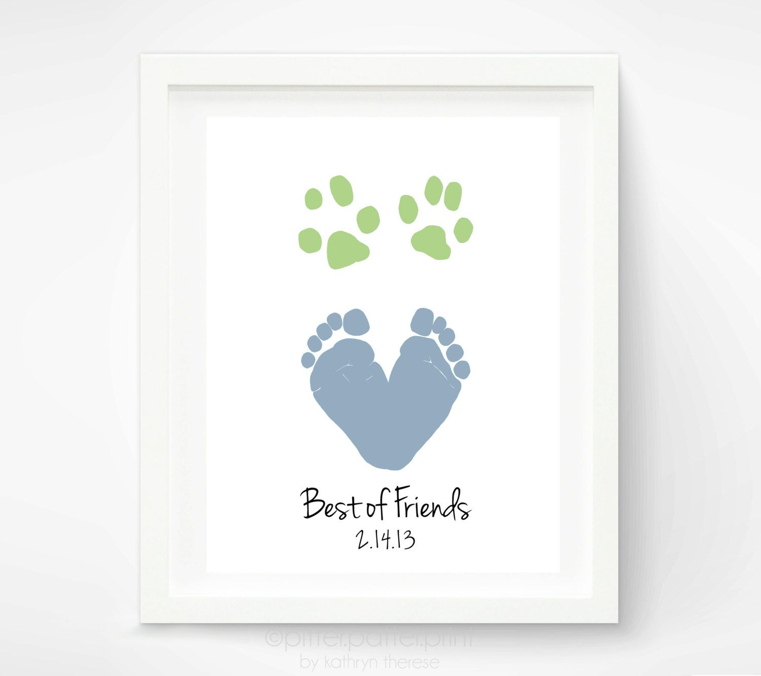 Newborn Baby Footprint Handprint Photo Frame Kit Newborn Keepsake Pet Paw Print Photo Frame Baby Shower Gift Birthday Gift Pink