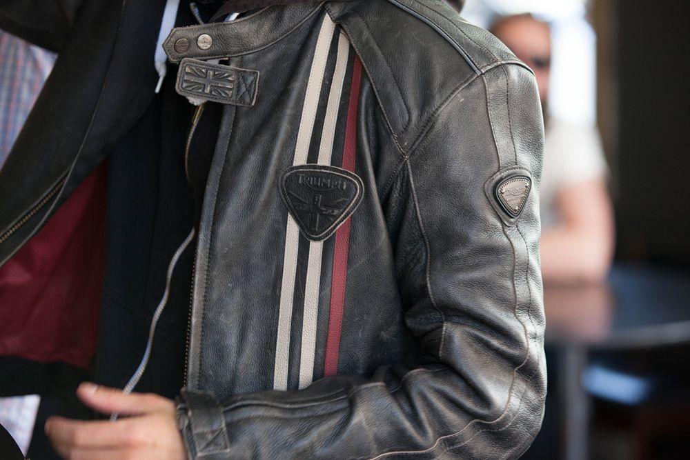 Raven Leather Jacket Triumph Motorcycles Motos Retro