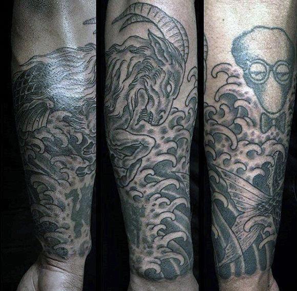 45a783622 Mens Forearm Sleeve Capricorn Tattoo Ideas #Tattoosformen | Tattoos ...