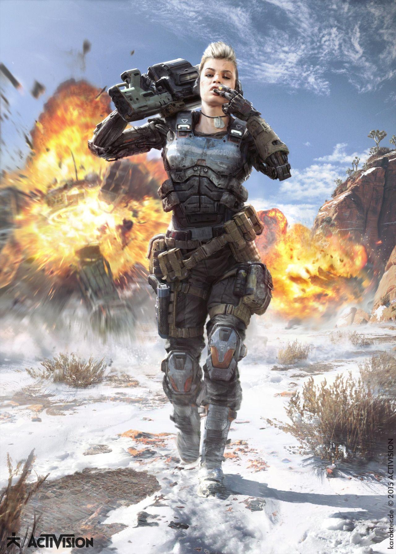 Call Of Duty Black Ops Iii Promo Artwork Studio Karakter Call