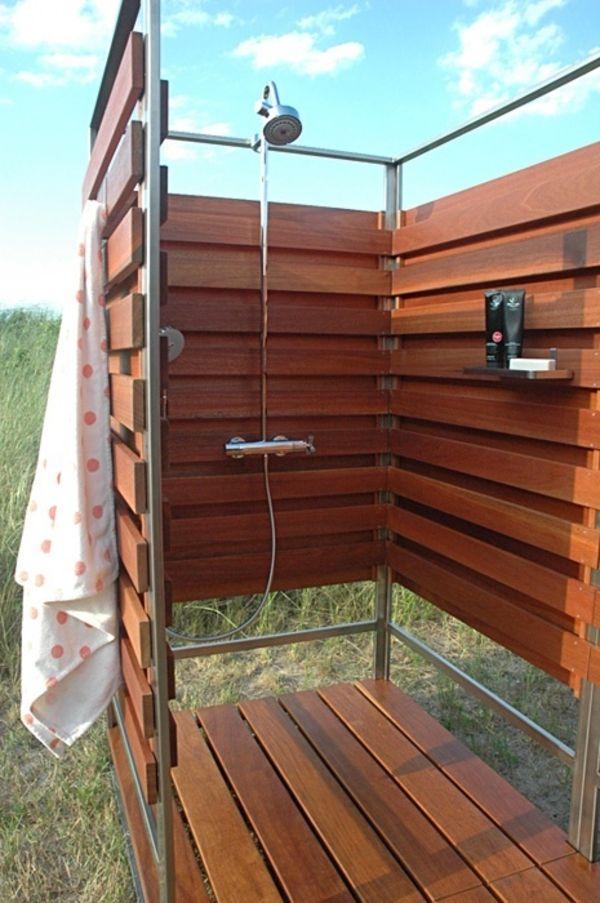 Sichtschutz für Gartendusche 35 tolle Beispiele