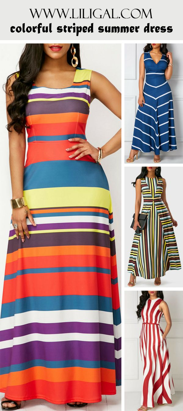 Colorful Summer Maxi Dresses
