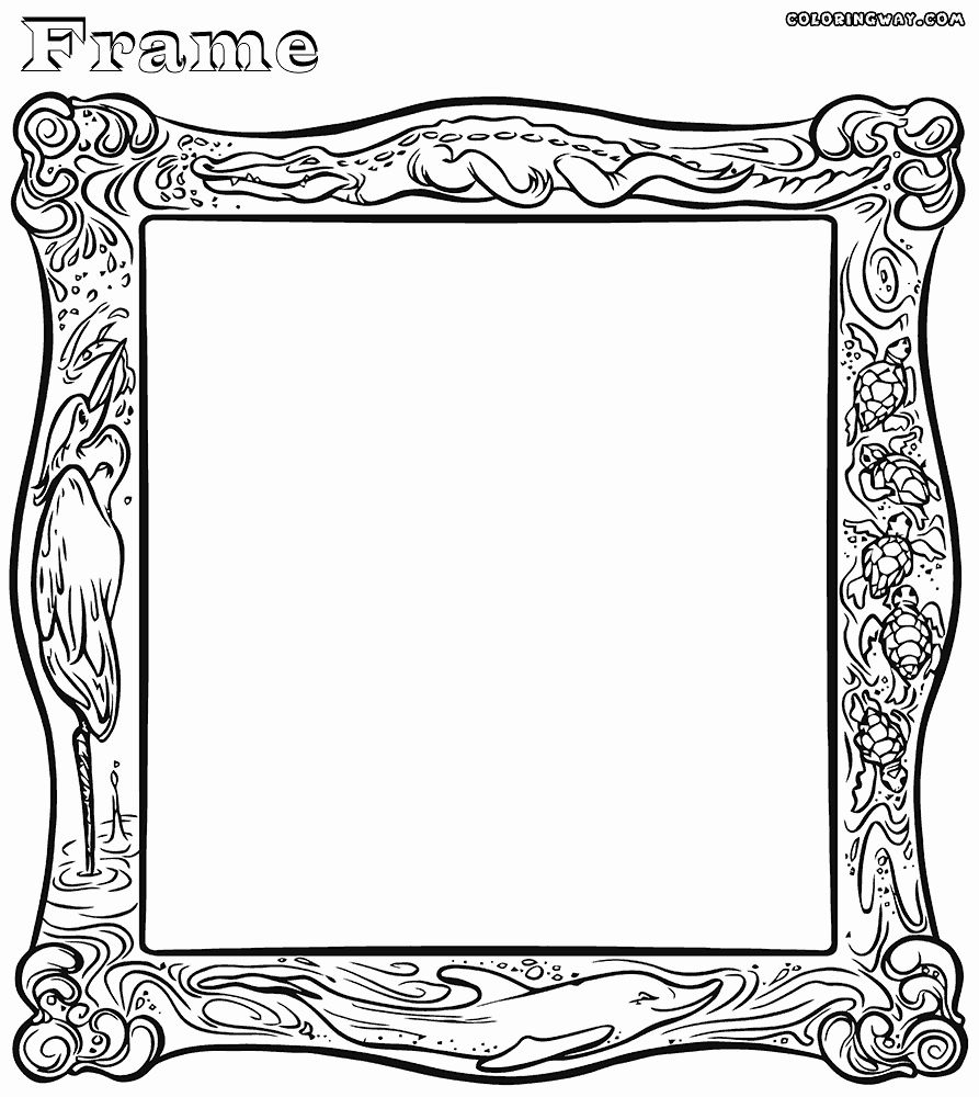 Picture Frame Coloring Page Beautiful Frame Coloring Pages Heart Picture Frame Coloring Pages Flower Picture Frames