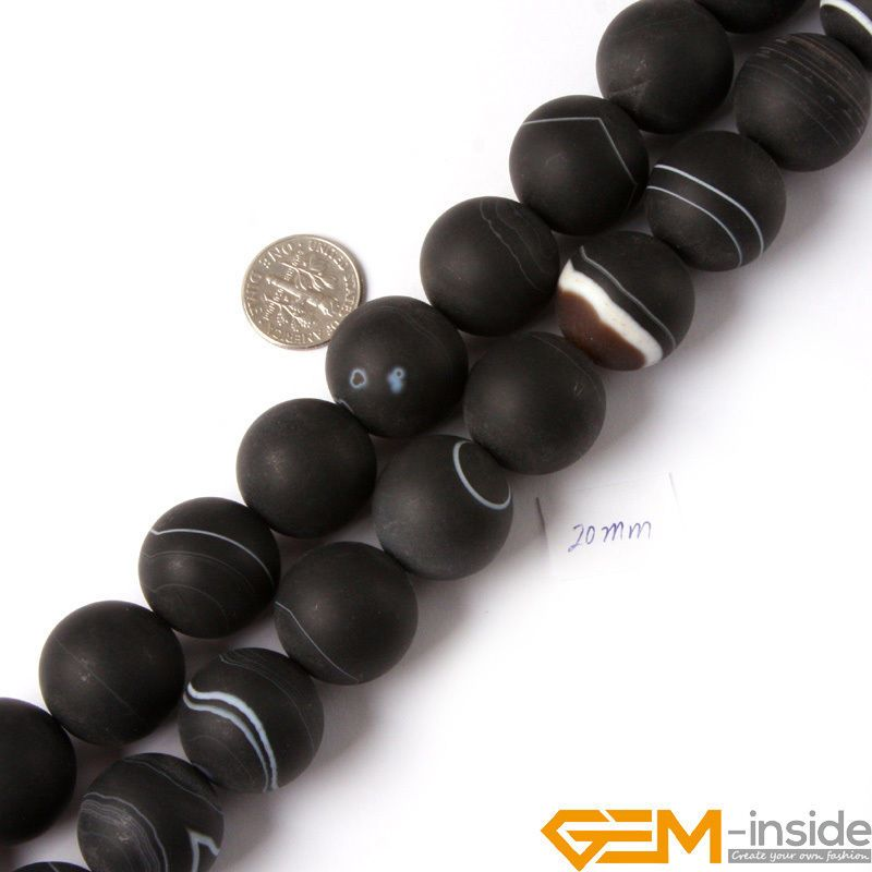 AAA  Natural 6//8//10//12mm Black Agate Onyx Round Loose Beads Gemstone15/'/'