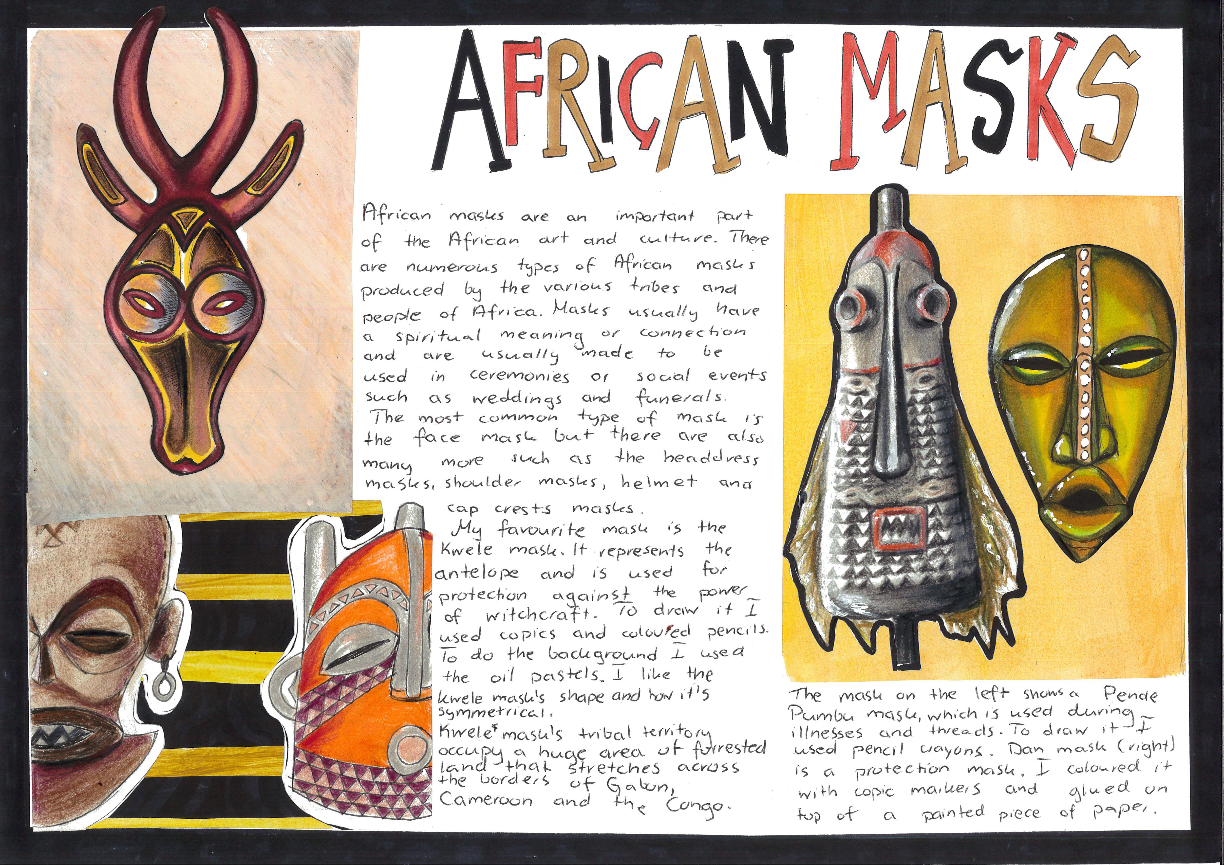 African Masks Research Worksheet