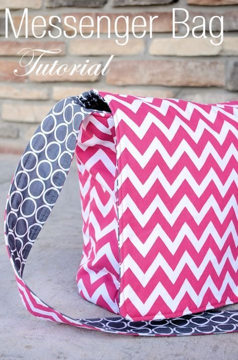Messenger Bag Pattern-This cute messenger bag is fun to sew! Grab the free pattern and make a bag f