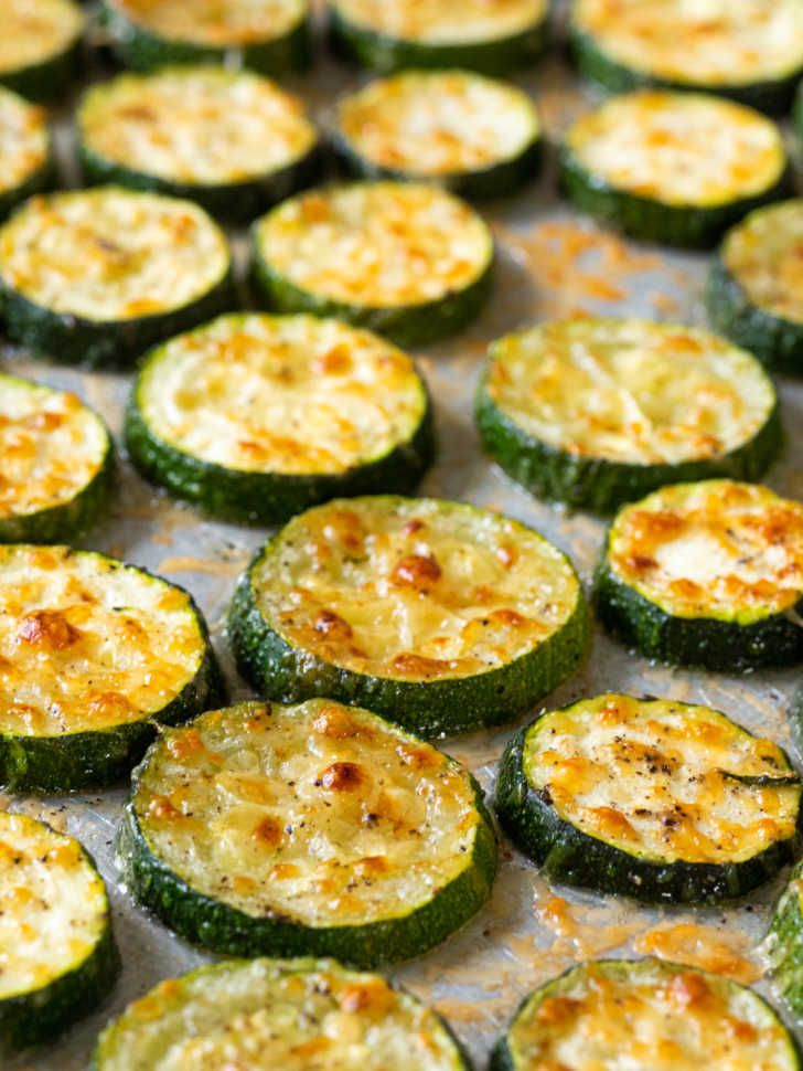 Oven Roasted Parmesan Zucchini