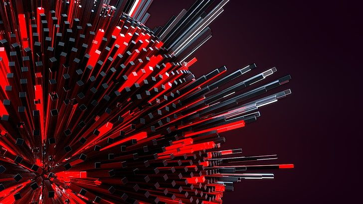 Round Red And Black Illustration 3d Geometry Digital Art Abstract Hd Wallpaper Abstract Wallpaper Abstract Iphone Wallpaper Abstract
