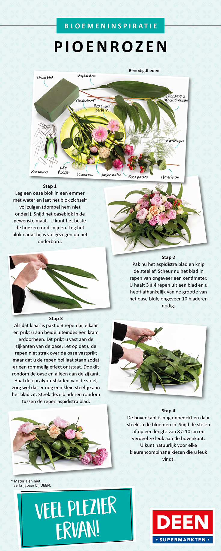 bloemen inspiratie van deen supermarkten, de enige echte