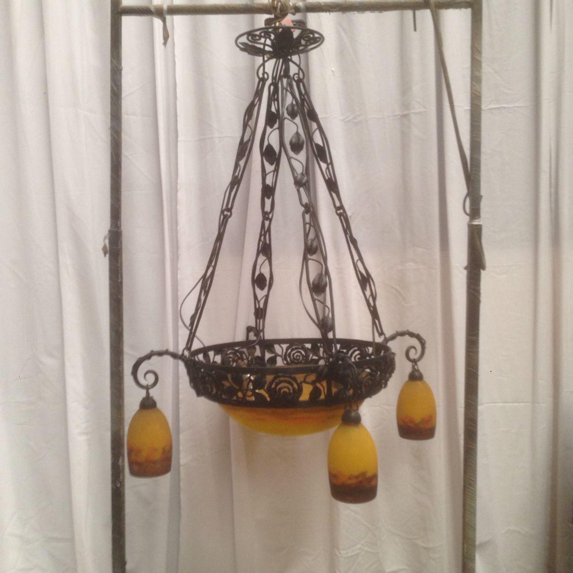 lustre patte de verre m ller fr res luneville vendre pinterest art deco and lights. Black Bedroom Furniture Sets. Home Design Ideas