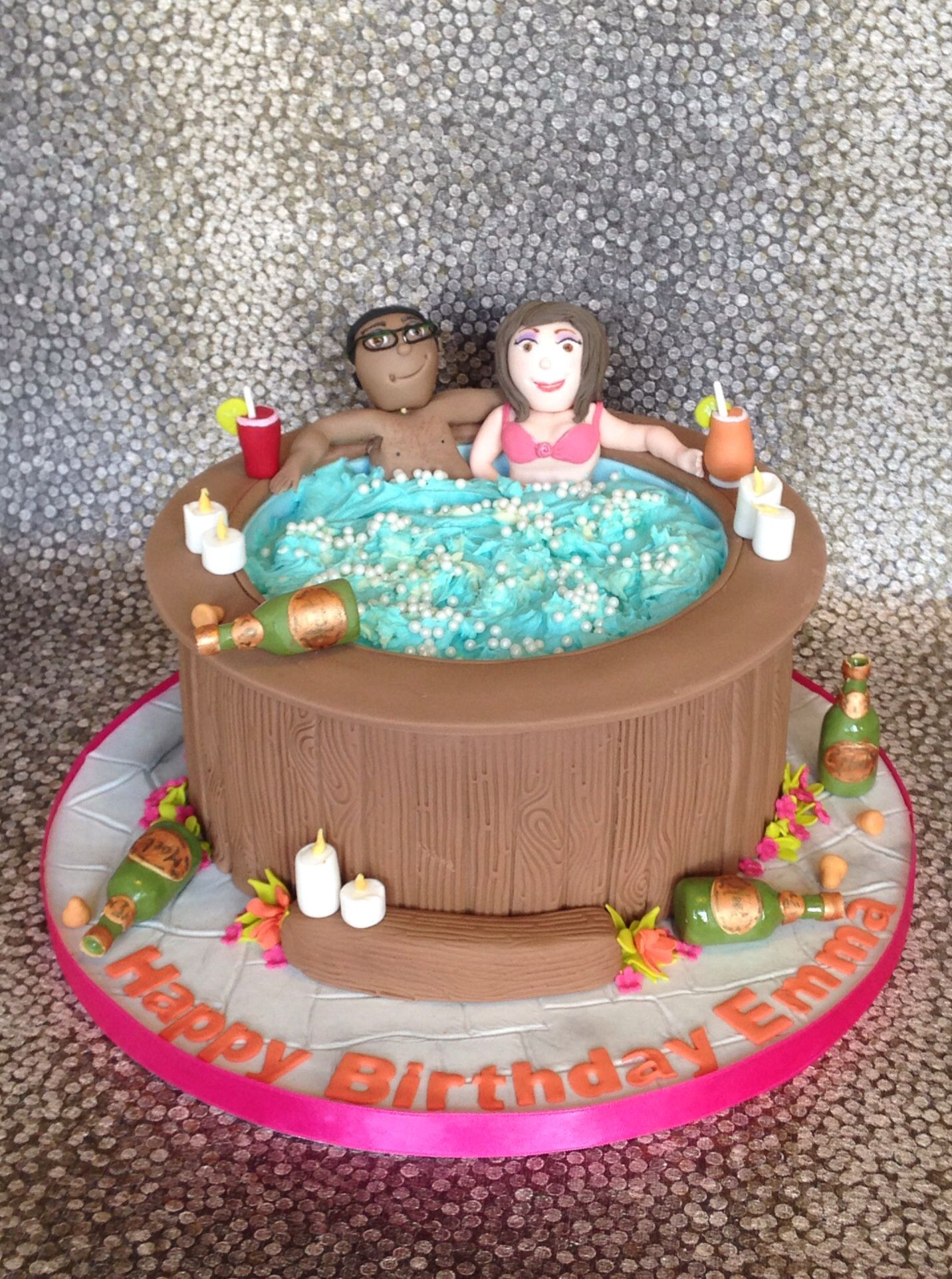 Hot Tub Party Cake